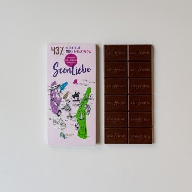8 BARS OF 43% ORGANIC CHOCOLATE WITH MILK & FLEUR DE SEL – Limited Seenliebe Edition